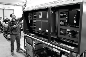 2-Electrical Cabinets and Cable Tracks